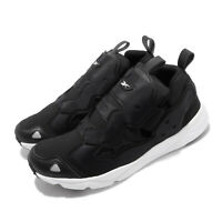Reebok Furylite 3.0 Black White Men Running Casual Slip On Shoes Sneakers FU9077