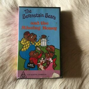 The Berenstain Bears and the Missing Honey VINTAGE 1988 VHS 80s RARE Collectable