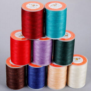 0.8mm Round Waxed Thread Leather Sewing Hand Stitching Quality Polyester Cord
