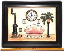 Küchenuhr, Bilduhr, Quarzuhr, Wanduhr, Motivuhr, Keramikuhr handbemalt