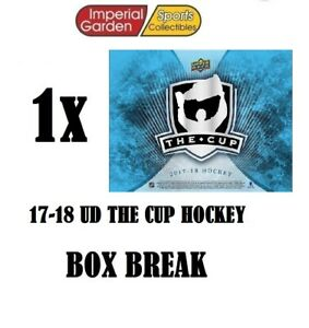 SINGLE * 17-18 * UD THE CUP HOCKEY Box Break #2633- Detroit Red Wings