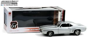 Highway 61 Barrett Jackson Silver 1969 Chevy Camaro ZL1 Coupe 1/18 In Stock