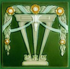 Jugendstil Fliese Kachel, Art Nouveau Tile, Tegel, SOMAG, Tisch Girlande / Table