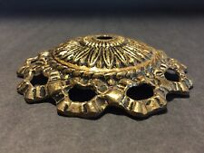 New listing Beautiful Solid Cast Brass Cap 4-3/4� Wide The Center Hole For 1/8 Ip Pipe # 955