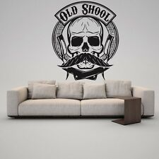 Vinyl Wall Decal Sticker Classic Salon Signboard Barber Shop Scissors Logo F1293
