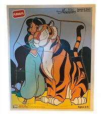VTG Playskool Disney Aladdin Princess Jasmine Rajah Wooden Puzzle