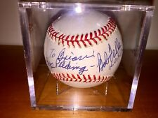Bob Feller Signed Ball, Autograph, Baseball HALL OF FAME, Cleveland Indians, MLB