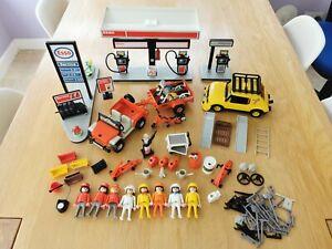 Playmobil Vintage Esso Garage, vehicles, Figures & Accessories Bundle