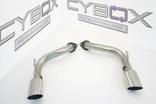 NISSAN 370Z STAINLESS STEEL EXHAUST TAIL PIPES / BACK BOX DELETE