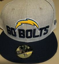 New Era 59Fifty Cap Mens NFL Team Los Angeles Chargers GO BOLTS Fitted 5950 Hat