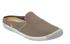 Softinos by Fly London Washed Leather Mules Imo Taupe Eu 36 Us Size 5.5 New