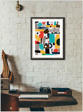 Geometric Art Poster Home Interior Wall Picture Decoration A4