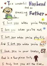 "HUSBAND ""Love You All the Time"" FUNNY FATHER'S DAY CARD POEM"