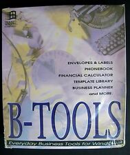 NEW VTG B-Tools Business PC Software 1992 DOS 3.0 WIN Works w/ Excel Lotus Words