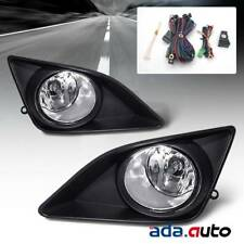 For 2009-2010 Toyota Corolla [Glass Lens] Black Clear Fog Lights+Harness+Switch