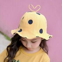 Korean Childen's Kids Hat Girls Summer Autumn 2020 New Polk Dot Print Bucket N3
