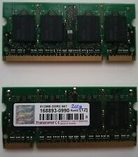 Memoria DIMM 512MB, DDR2-667, 200 pines, Transcend 168892, Mini-PC portatiles