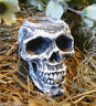 """Latex skull candle holder mold 4"""" x 3"""" x 2.75""""H plaster concrete casting mould"""
