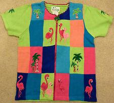 "Quacker Factory Cardigan Sweater ""Flamingos"" BRAND NEW"