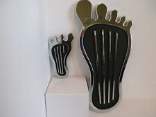 BAREFOOT GAS PEDAL COVER & DIMMER SWITCH COVER CHROME VINTAGE #8520/8521