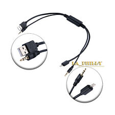 Audio Stereo USB AUX Adapter interface Cable For BMW Mini iPod iPhone 5 5s 6