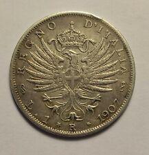 Moneta Regno D  Italia Vitt Emanuele III  1 Lira Aquila 1907