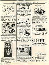 1981 ADVERT Testor Gates Learjet Bell Jet Helicopter Ideal Seaplane Guzzler Car