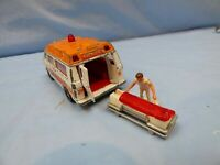 Vintage Corgi Chevrolet Superior 61 Ambulance Attendant Stretcher Van Car Toy