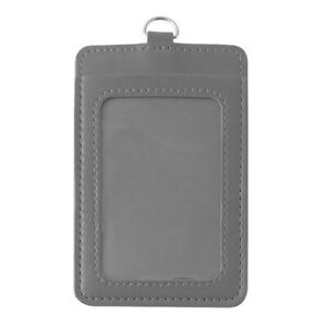 ID Badge Card Holder Synthetic leather Clip Case Office Work Name Case**