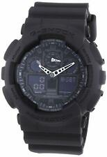 Casio G-Shock Analog-Digital Herrenarmbanduhr GA-100 schwarz, 20 BAR