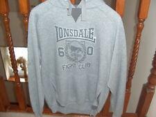 Lonsdale men's grey hoodie size s BNWT