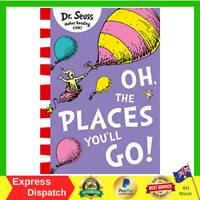 Oh The Places You'll Go by Dr Seuss Paperback Book FAST AND FREE SHIPPING NEW