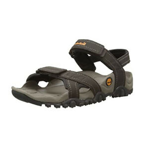 Timberland Men's Granite Trails Medium Brown Leather Strap Sandals 42504