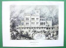 ARCHITECTURE PRINT : Italy Countryside Villa at Botzen Facade & Plan