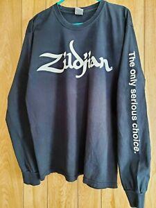 Vintage Zildjian Long Sleeve T-Shirt Large -  NICE Retro Drummer Cymbals