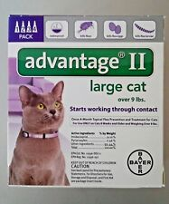 BAYER ADVANTAGE II FLEA CONTROL FOR CATS OVER 9 LBS - NEW