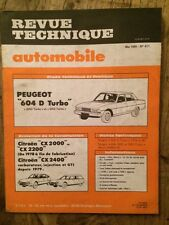 Revue Technique Automobile Peugeot 604 Diesel Turbo et Citroën CX 2000 2200 2400
