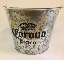 Galvanized Corona Extra Beer Drink Bucket Barware Ice Bucket Cooler