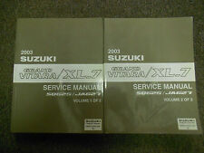 2003 SUZUKI GRAND VITARA XL7 XL-7 SQ625 JA627 Shop Service Manual 2 VOL SET NEW