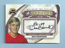 DAN BOUCHARD 2011/12 ITG BETWEEN THE PIPES DECADES 1070'S AUTOGRAPH AUTO