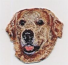 "2"" x 2 1/8"" Golden Retriever Dog Breed Head Portrait Embroidery Applique Patch"