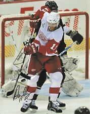 DAN CLEARY signed 8x10 photo DETROIT RED WINGS with COA