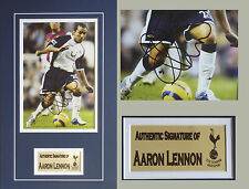 Aaron Lennon Tottenham Hotspur Signed Photo mounted with COA