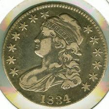 1834 Capped Bust Half Dollar (Lg Dt, Sm Lt O #107) - EF