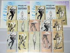 BURUNDI 1964 80-4 A-B Block 3 A-B 68-71 Olympics Innsbruck Ice Hockey Skiing MNH
