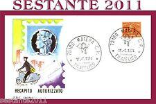 ITALIA FDC ROMA RECAPITO AUTORIZZATO 1974 ANNULLO MATERA B181