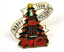 COCA-COLA COKE EE.UU. Solapa Pin PIN BADGE Broche - Happy Holidays 1996