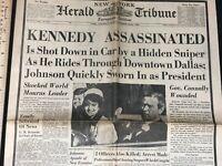 Kennedy Assassination Newspaper NY Tribune Herald EU Ed. Paris Dead SecSvc Agent