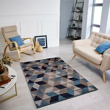 Modern Blue Rugs Mats Extra Large Runner Clearance Cheap Living Room Carpet