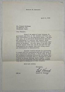 1962 Edward. M Kennedy Letter